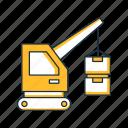 crane, crane truck, equipment, hoist, industry, truck icon
