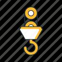 equipment, hoist, hook, industry, machine icon