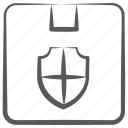 parcel insurance, parcel protection, parcel safety, parcel security, product security, secure delivery icon