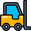 delivery, forklift, logistics, shipping, warehouse icon
