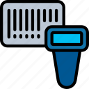barcode, delivery, logistics, scan, search, shipping icon