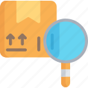 barcode, delivery, logistics, parcel, scanning, search, shipping icon