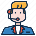 customer, live, phone, service, support icon