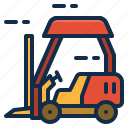 cargo, forklift, transport icon