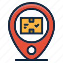 delivery, gps, location, logistics, shipping, tracker icon