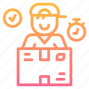 box, delivery, logistic, man, package, service icon