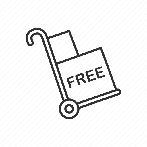 box, cart, delivery, free, package, shipping, trolley icon