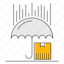 fast, logistics, protection, transport, umbrella icon