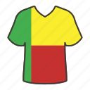 world, flag, country, national, benin, shirt, flags icon