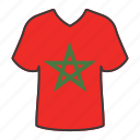 country, flag, world, morocco, national, shirt, flags icon
