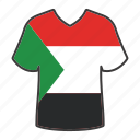 world, flag, sudan, country, national, shirt, flags icon