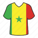 world, flag, senegal, country, national, shirt, flags icon