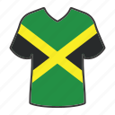 jamaica, flag, world, country, national, shirt, flags icon