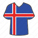 iceland, flag, world, country, national, shirt, flags icon