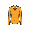 clothing, fashion, fomal attire, garment, longsleeve, polo, shirt icon