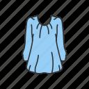 blouse, clothing, dress, fashion, garment, shirt icon