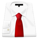 red, shirt, tie