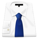blue tie, clothes, shirt, white icon
