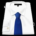 blue tie, clothes, shirt, white
