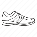 fashion, line, mens, outline, shoe, sneakers, sport icon