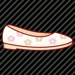 ballerina, ballet, dance, flats, footwear, shoe, slipper icon