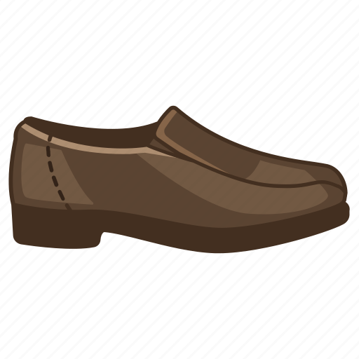 footwear, leather, loafer, male, mens, shoe, slip-on icon