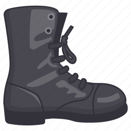 activities, army, boot, combat, footwear, hiking, outdoor icon
