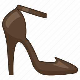 ankle strap, heel, high, ladies, pumps, shoe, womens icon