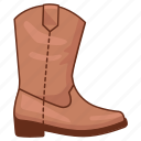 boot, cowboy, leather, rancher, rider, riding, rodeo icon