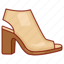footwear, heels, ladies, mule, sandal, shoe, woman