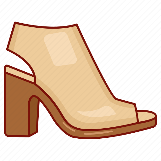 footwear, heels, ladies, mule, sandal, shoe, woman icon