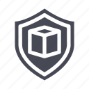ecommerce, insurance, package protection, package shield, shopping icon