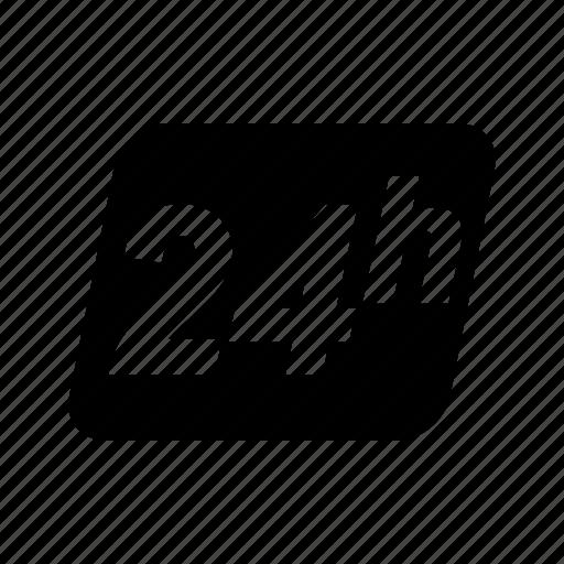 24/7, door, door sign, shop, shopping, sign icon - Download on Iconfinder