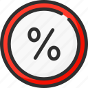 buy, circle, discount, percent, sale, shopping, store icon