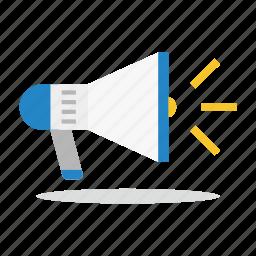 announcement, commerce, loud speaker, marketing, sales, shop icon