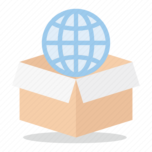 box, commerce, global, marketing, sales, shop, world wide icon