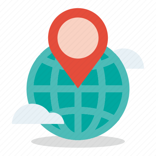 commerce, global, map, marketing, sales, shop icon