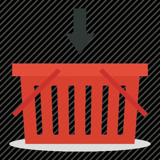 basket, bin, commerce, e, marketing, sales, shop icon