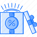 box, commerce, discount, gift, sale, shop, shopping icon