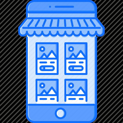 app, commerce, market, mobile, phone, shop, shopping icon