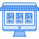 commerce, computer, desktop, market, monitor, shop, shopping icon