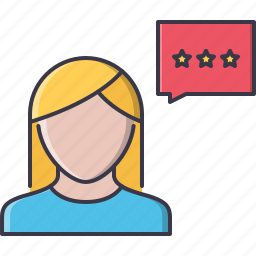 buyer, client, commerce, review, shop, shopping, talk icon