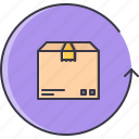 box, delivery, purchase, return, shipping, shop, shopping icon