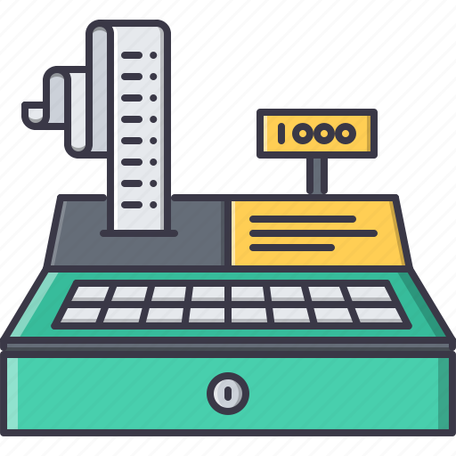 cashbox, check, list, money, purchase, shop, shopping icon
