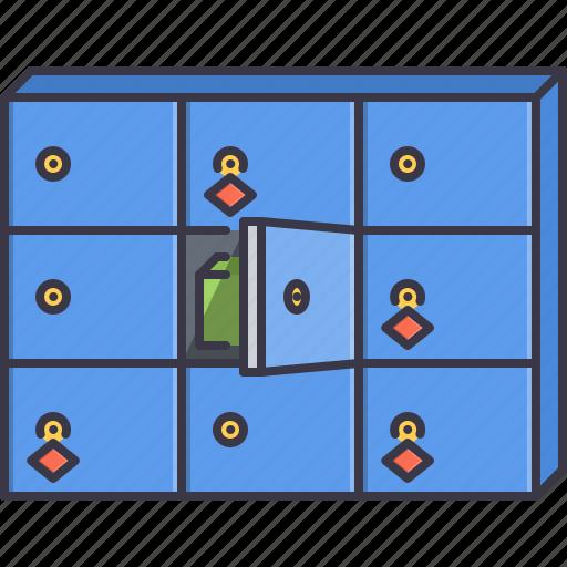 box, commerce, key, safe, shop, shopping, thing icon