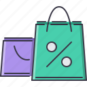 commerce, discount, pocket, purchase, sale, shop, shopping icon