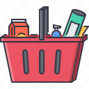 basket, commerce, food, market, purchase, shop, shopping icon