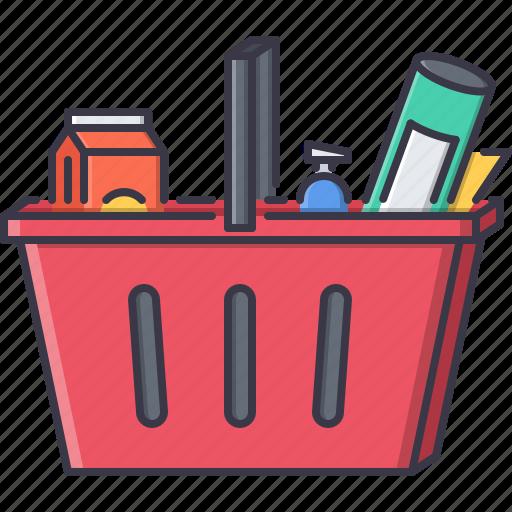 basket, commerce, food, market, purchase, shop, shopping icon