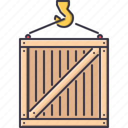 box, commerce, crane, delivery, shipping, shop, shopping icon
