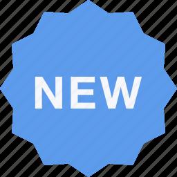 badge, commerce, new, online shop, shop, supermarket icon